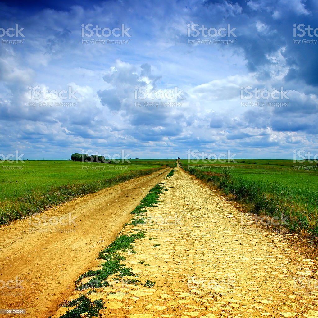 Old Dirt Road in Countryside royalty-free stock photo