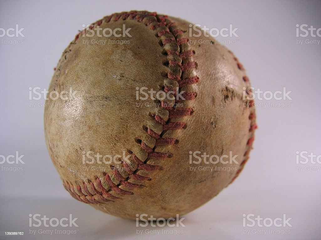 Old, Dirty Baseball royalty-free stock photo