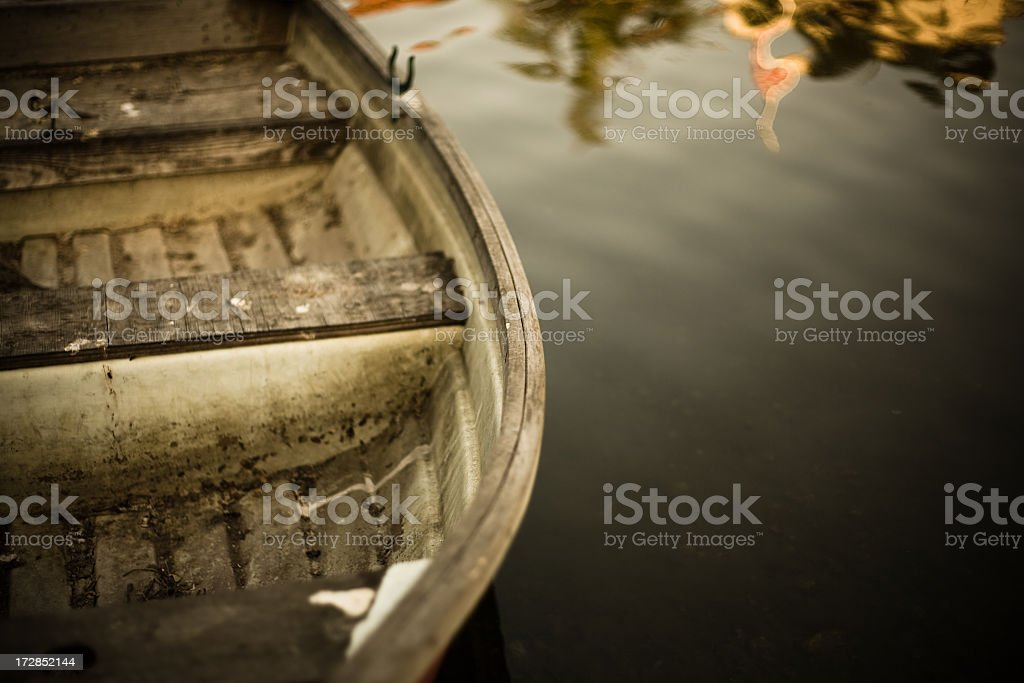 Old Dirty Boat royalty-free stock photo