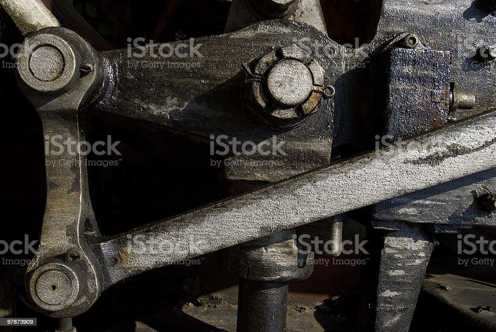old, dirty steam train stock photo