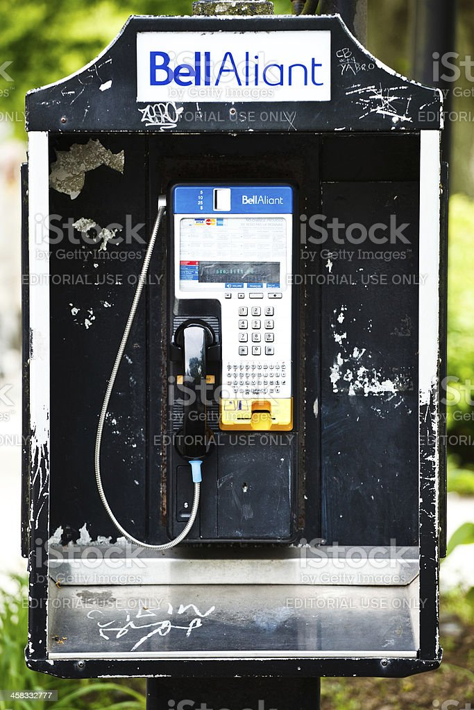 Old Dirty Payphone royalty-free stock photo