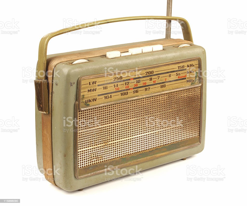 old dirty radio stock photo