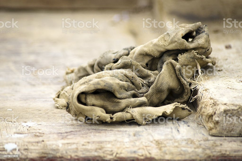 Old dirty rag stock photo