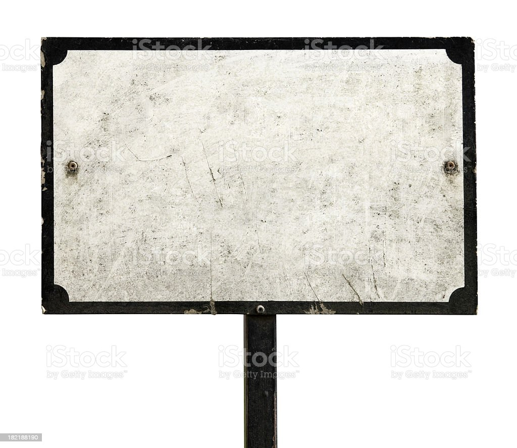 Old dirty sign stock photo