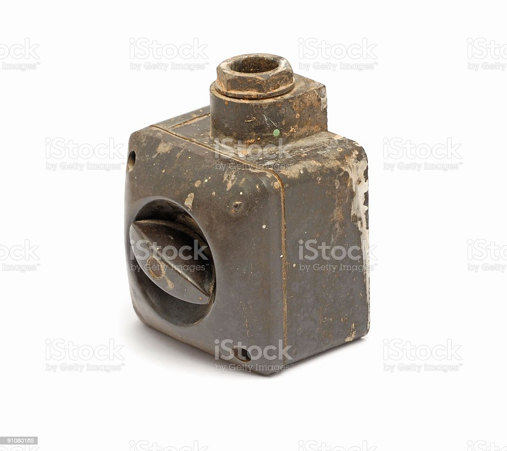 Old dirty switch royalty-free stock photo