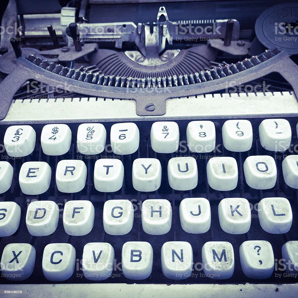 Old dirty typewriter stock photo