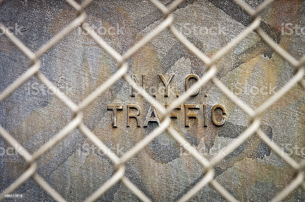 Old dirty wall and wire mesh royalty-free stock photo