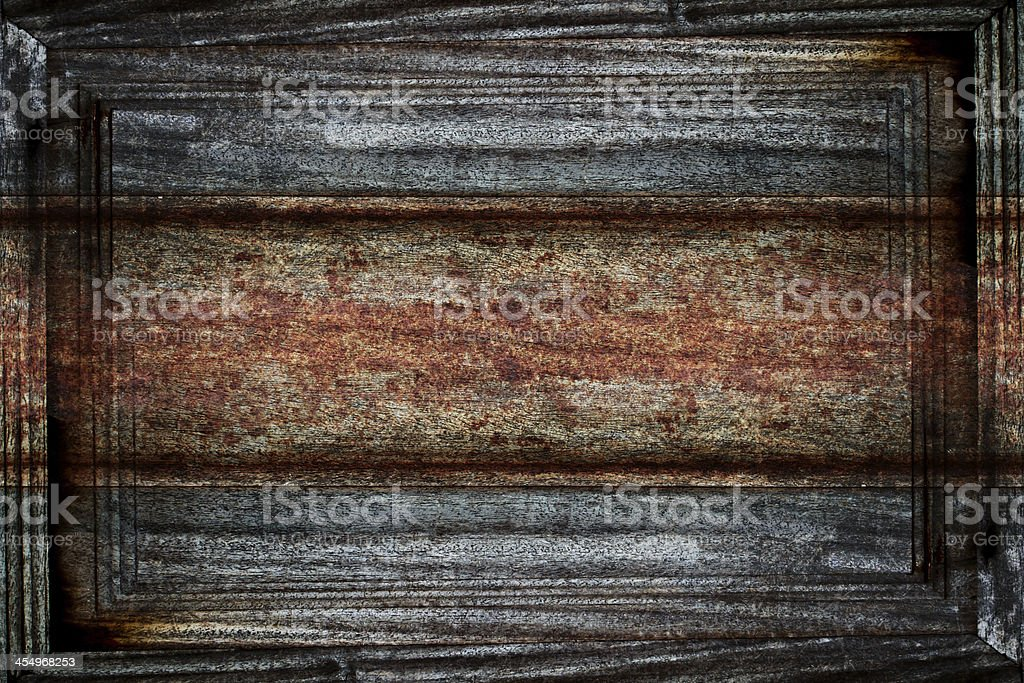 old dirty wood plank frame royalty-free stock photo