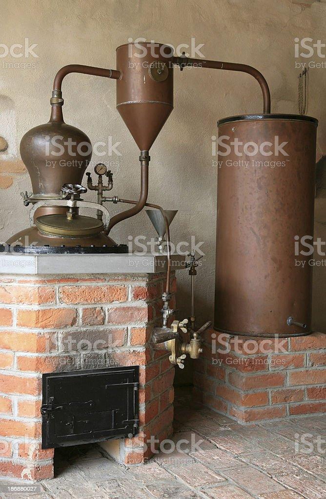 Old distillery stock photo