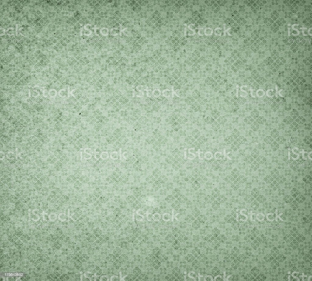 High resolution old distressed wallpaper with pattern stock photo