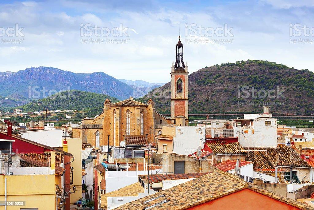 Old district of Sagunto stock photo