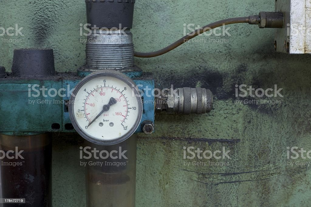 old disused gauge stock photo