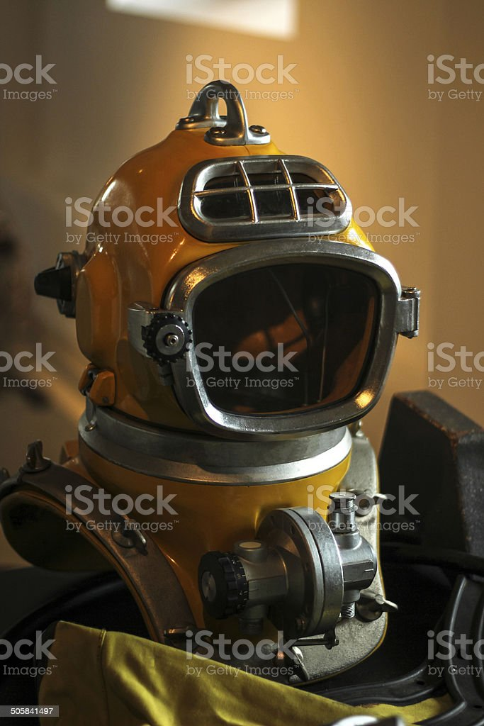 Old diving suit stock photo
