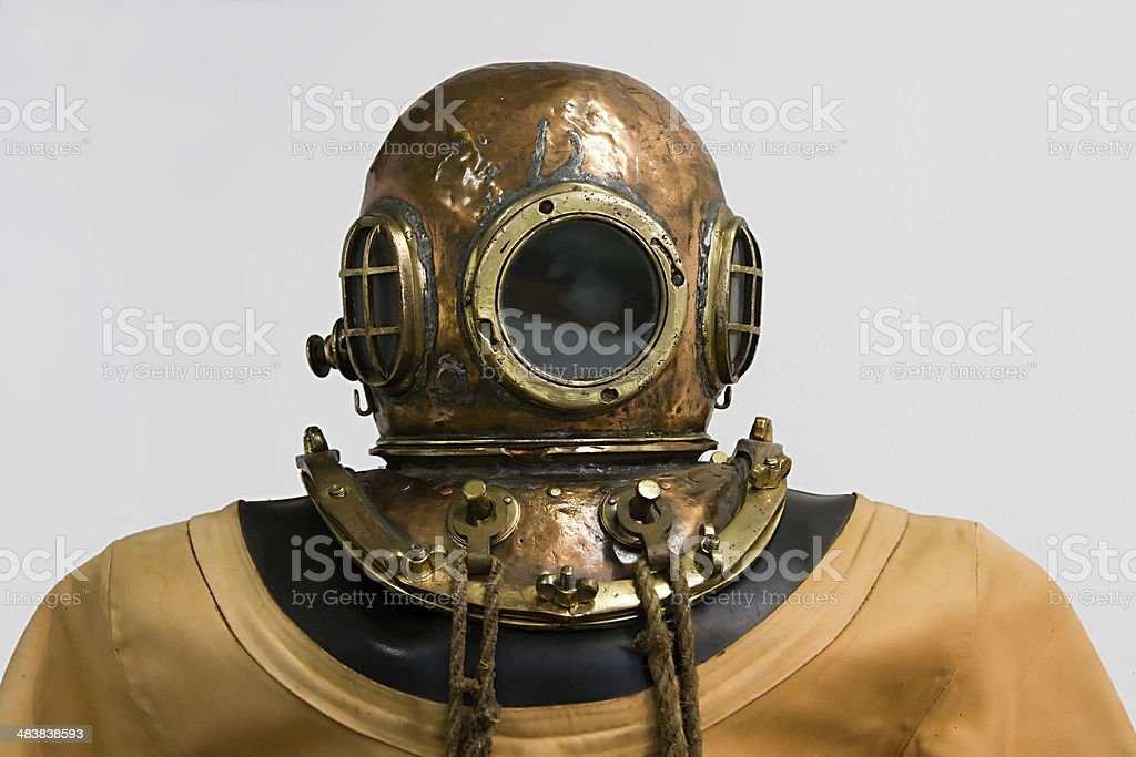 Old Diving Suite stock photo