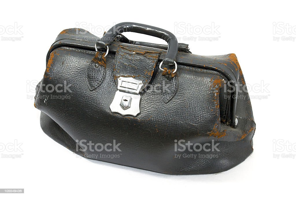 old doctor bag stock photo
