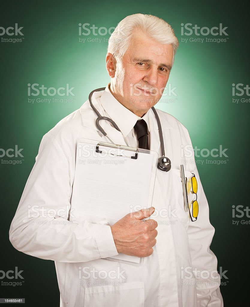 Old doctor portrait stock photo