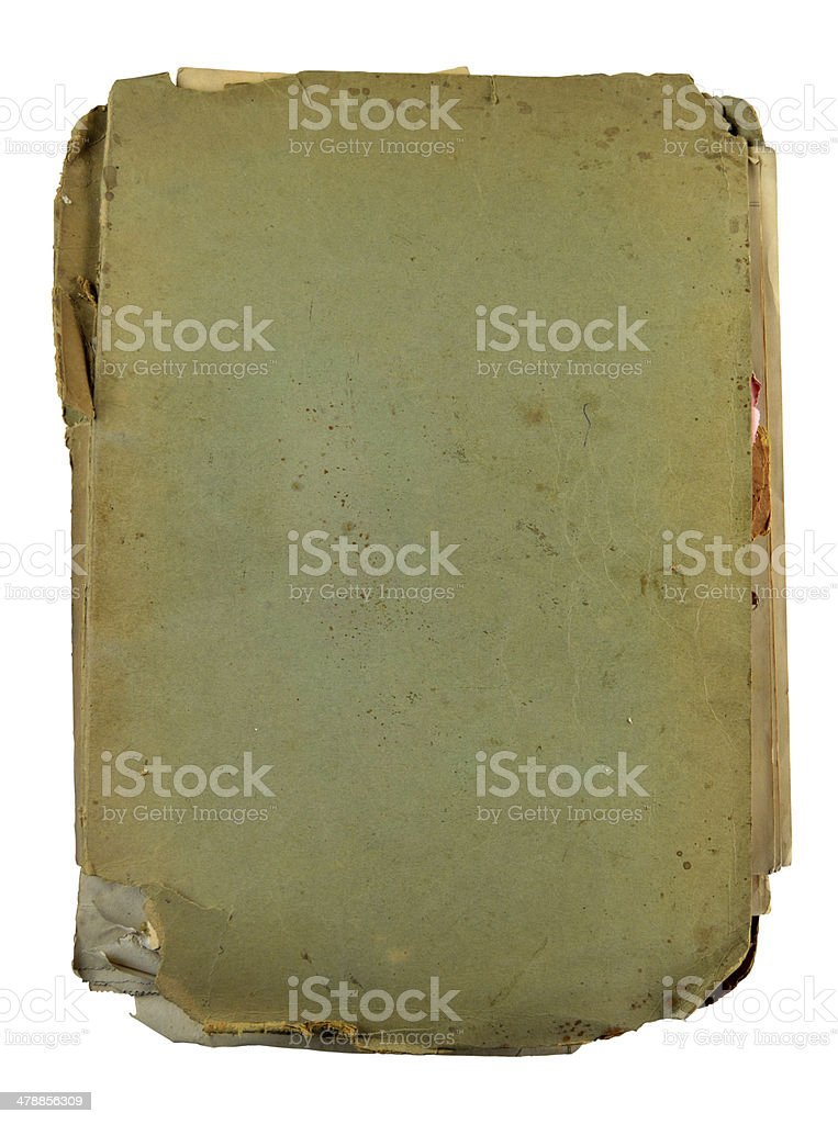 XXXL - Old document file isolated over white royalty-free stock photo