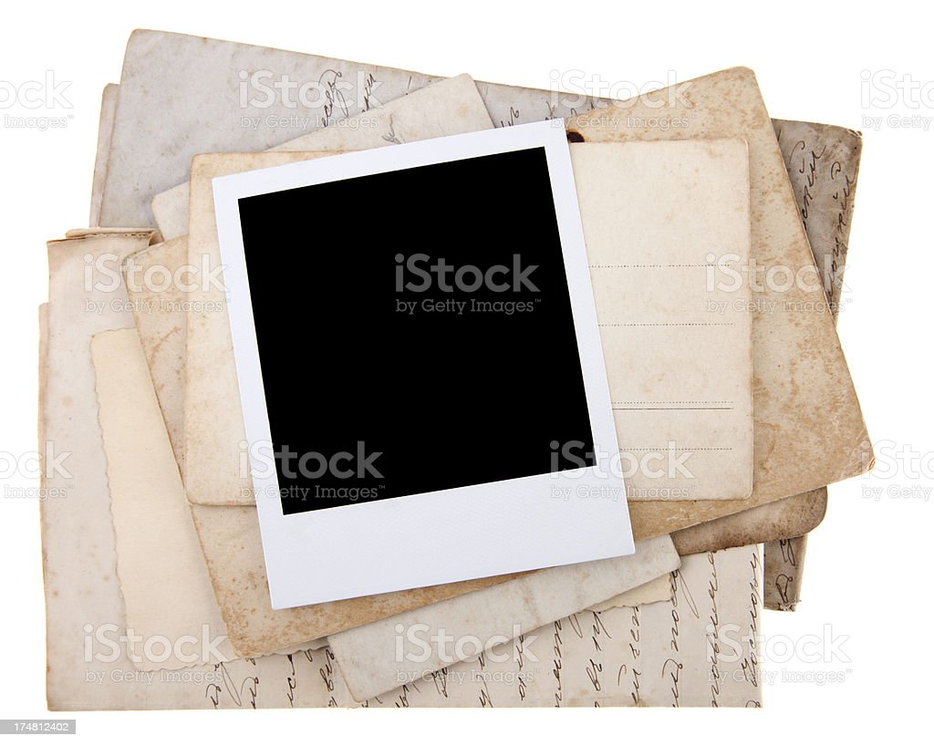 Old documents royalty-free stock photo