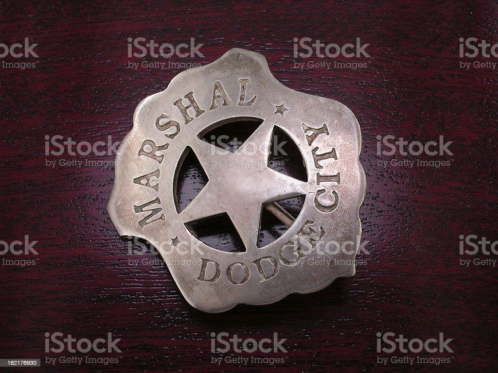 Old Dodge City Badge royalty-free stock photo
