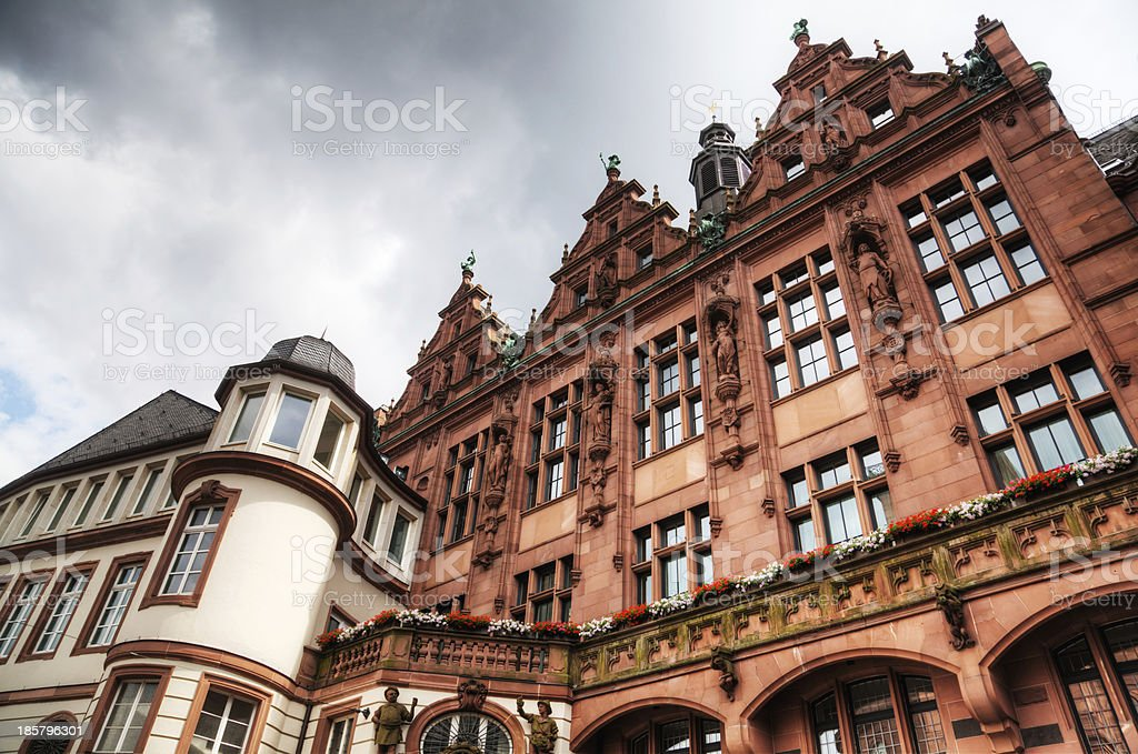 old domestic architecture in Frankfurt, Germany royalty-free stock photo