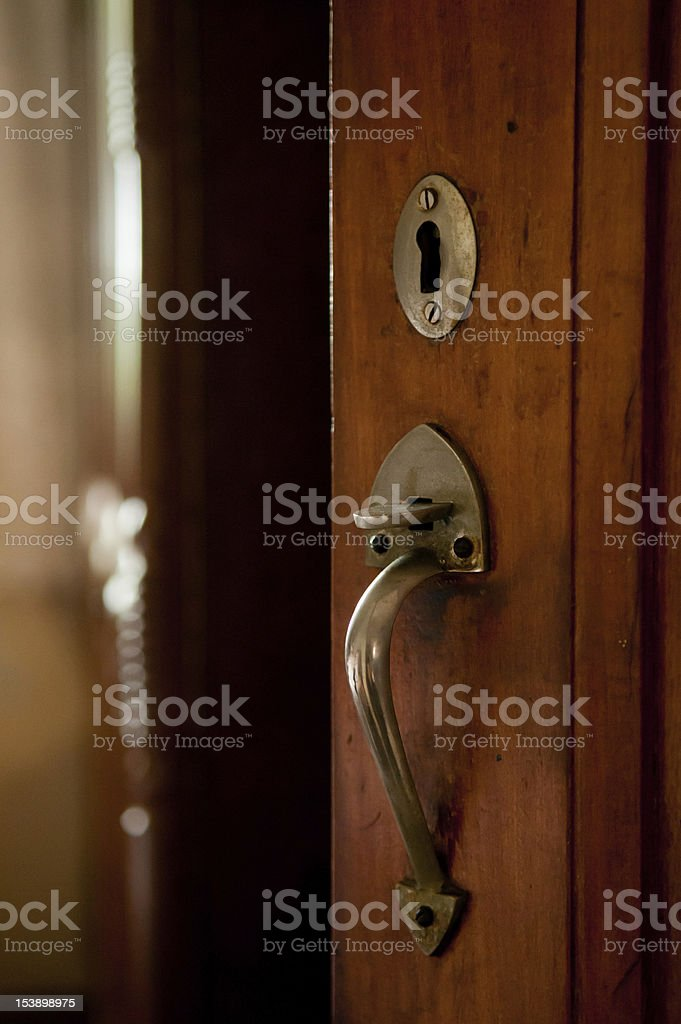 Old Door Ajar stock photo