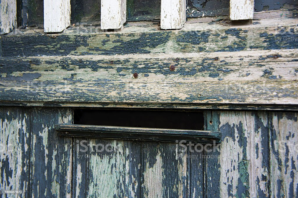 Old door and letterbox royalty-free stock photo