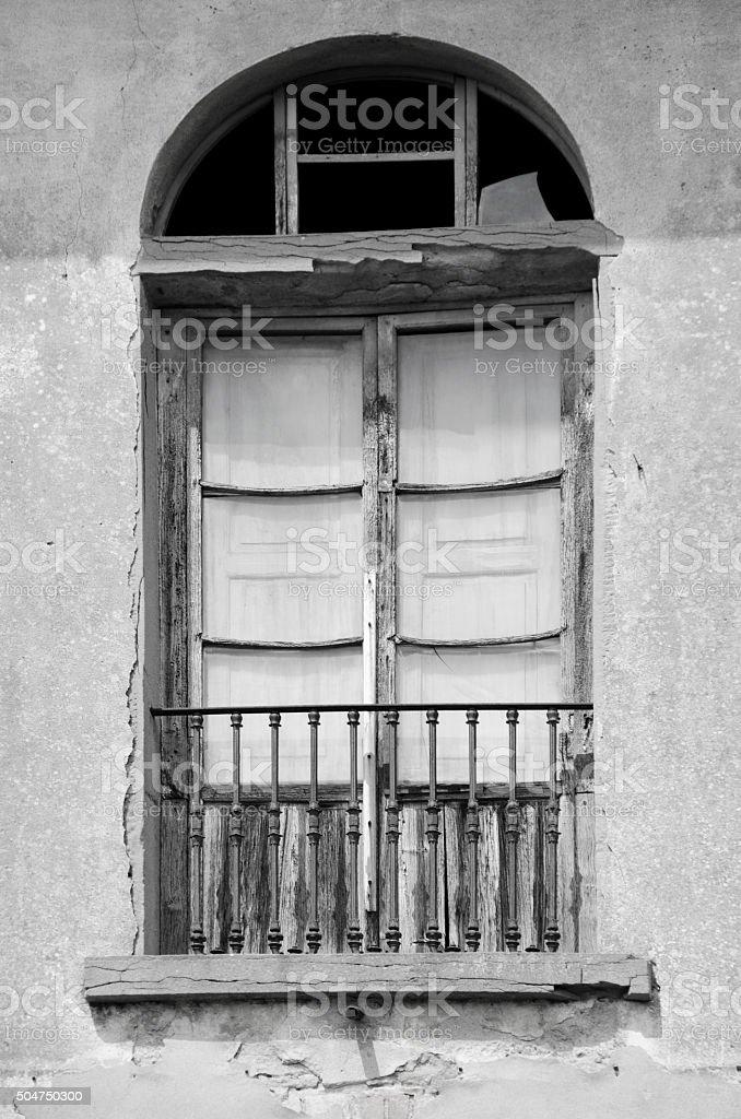Old Door and Window in Montecchio, Italy stock photo