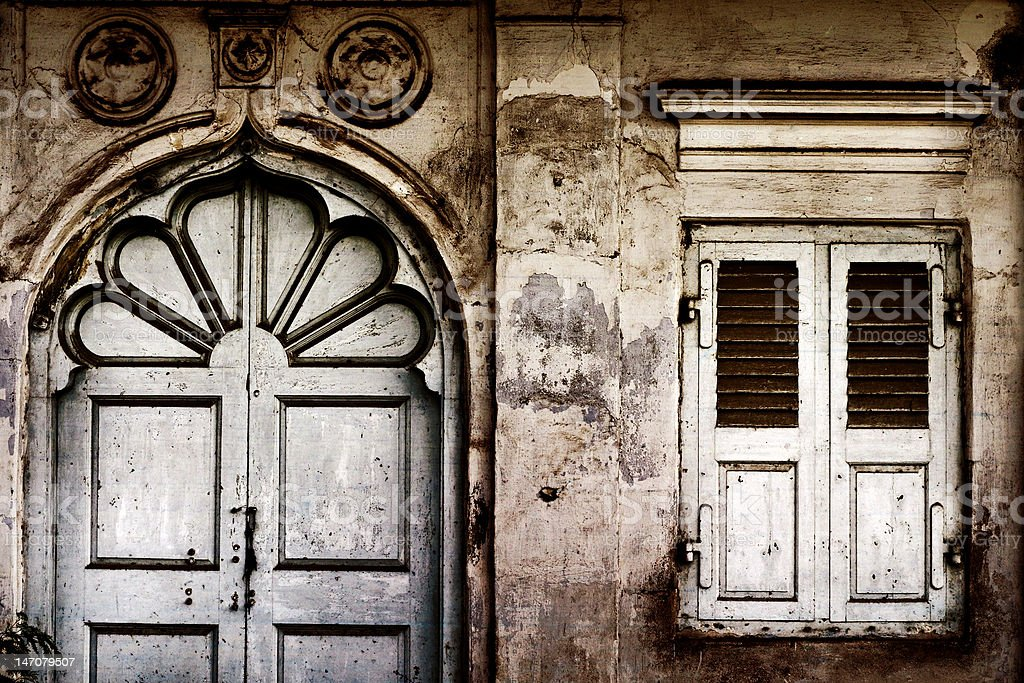 old door and window royalty-free stock photo
