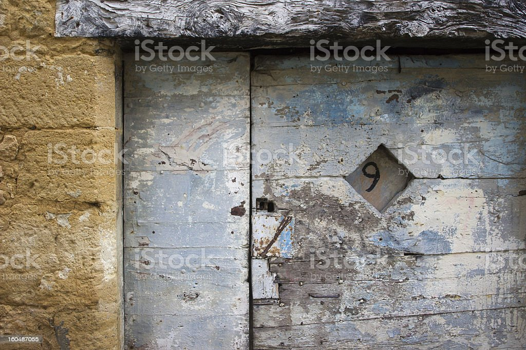 Old door detail stock photo