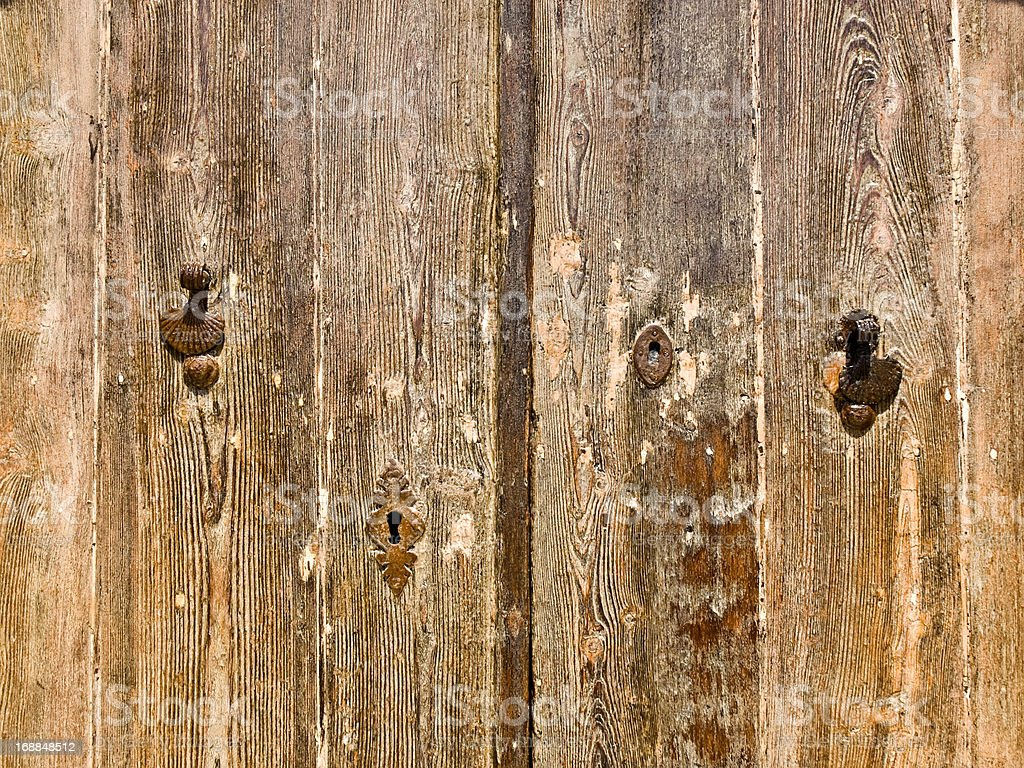 Old Door Fittings royalty-free stock photo