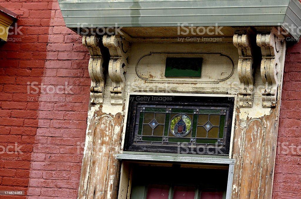 Old Door Frame stock photo