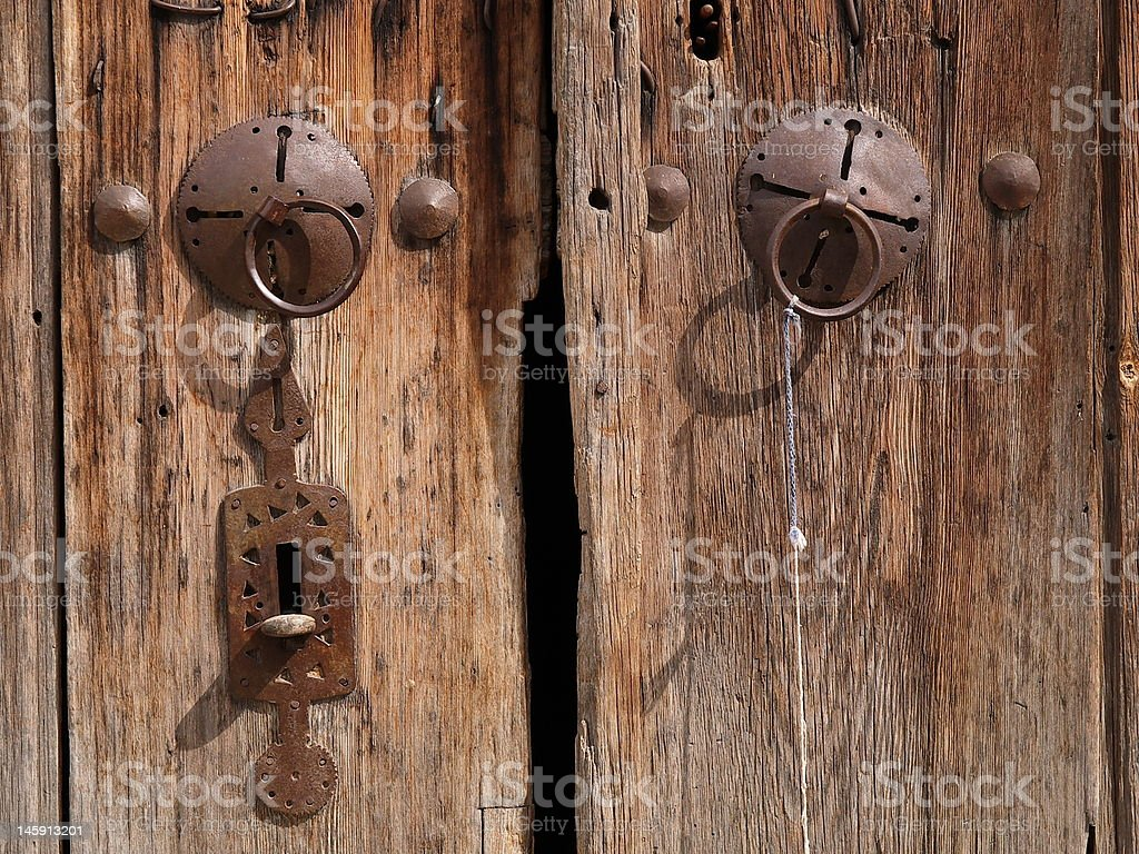 old door handle royalty-free stock photo