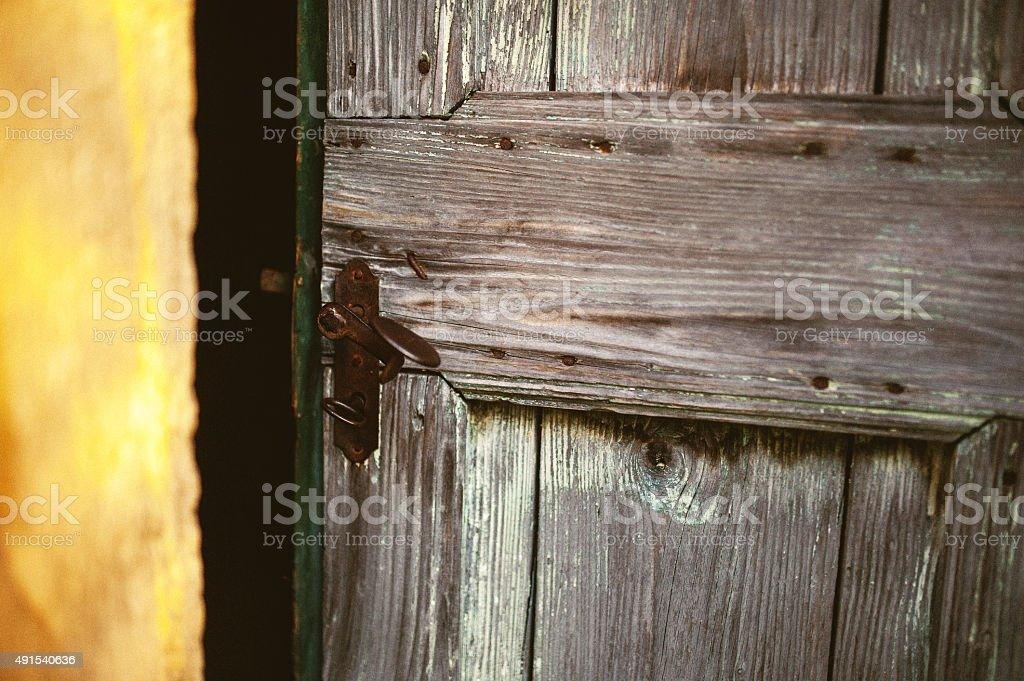 Old Door Hitch stock photo