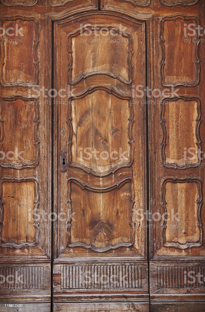Old door in Italy royalty-free stock photo