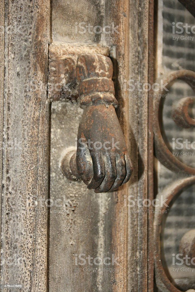 Old door knob, saint enimie village, France royalty-free stock photo