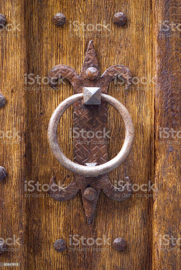 Old Door knocker royalty-free stock photo