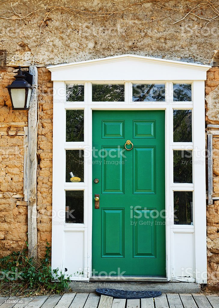 Old Door - Lincoln, New Mexico royalty-free stock photo