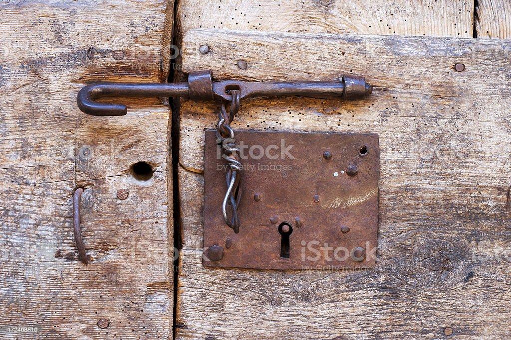 Old door lock royalty-free stock photo