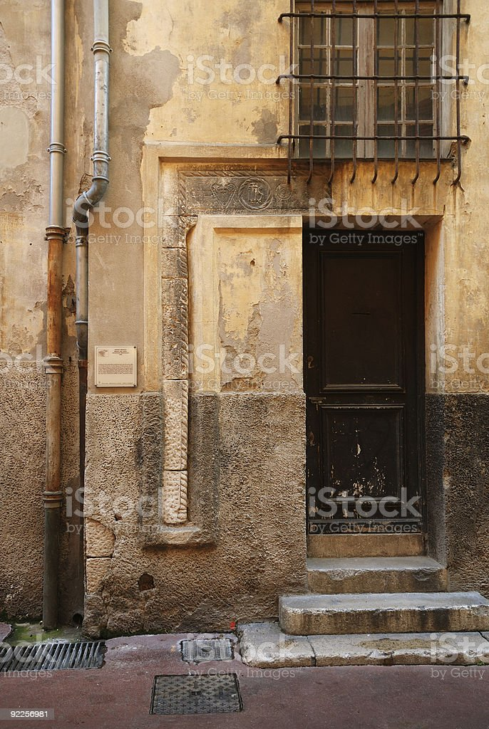 Old door, Nice, France stock photo