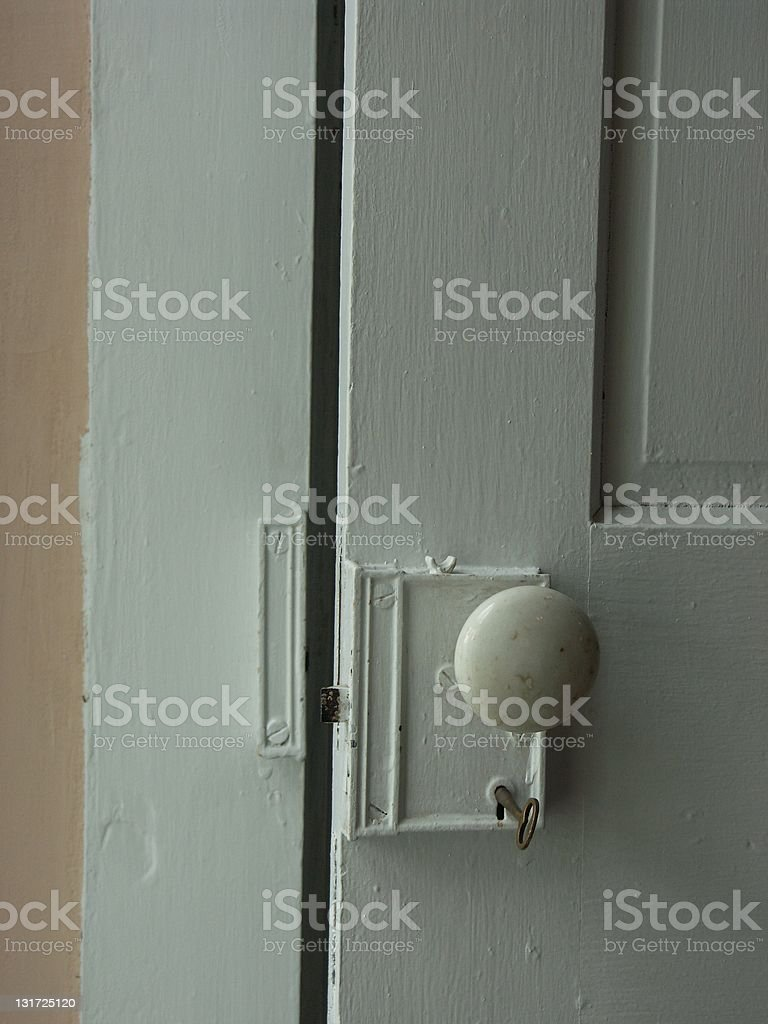 Old Door - Open stock photo