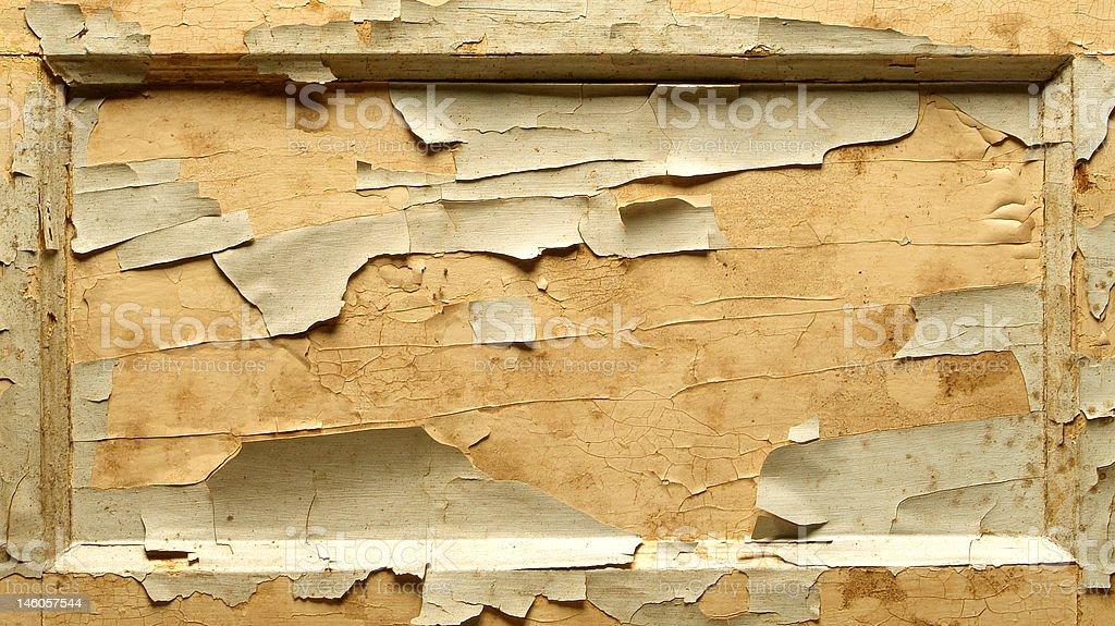 old door panel with peeling paint stock photo
