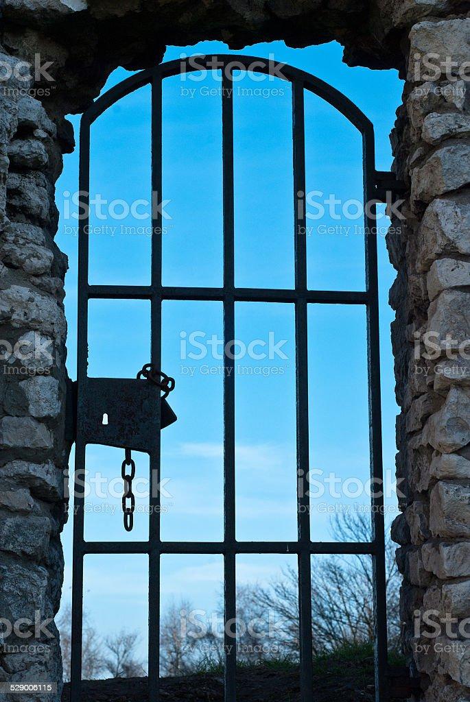 Antigua puerta foto de stock libre de derechos