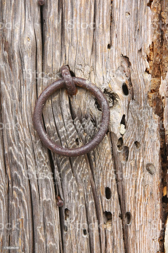 Old Door Ring royalty-free stock photo