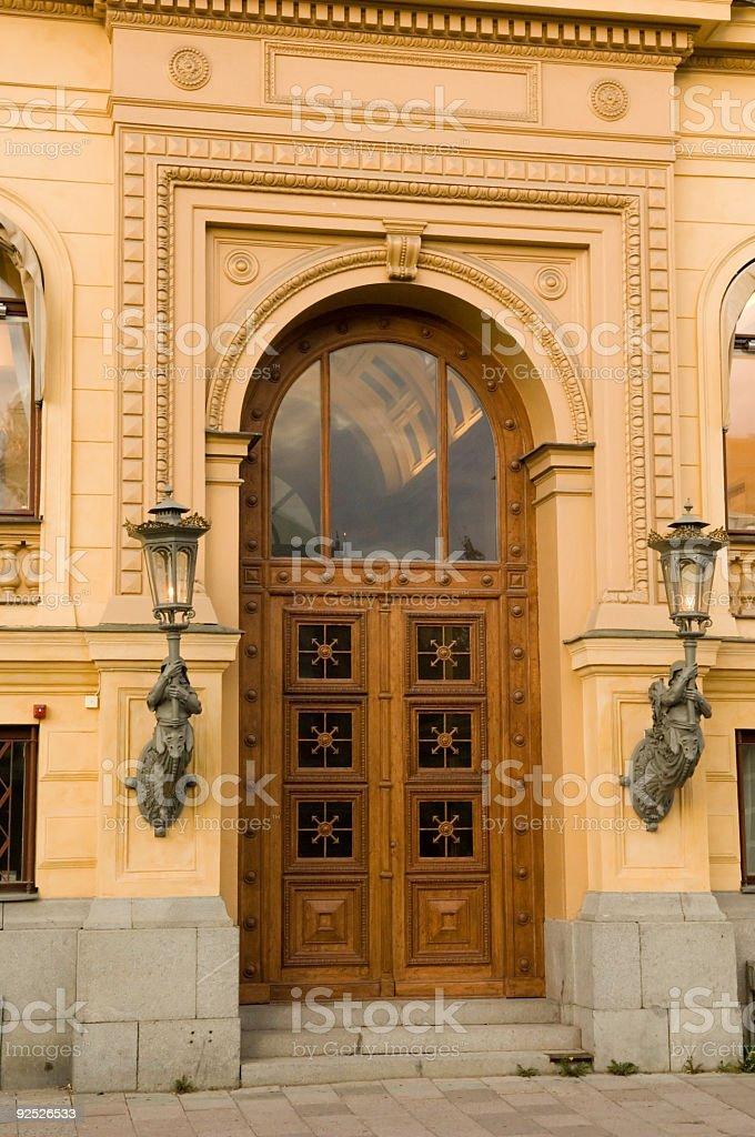 Old Door Stockholm Sweden Europe royalty-free stock photo