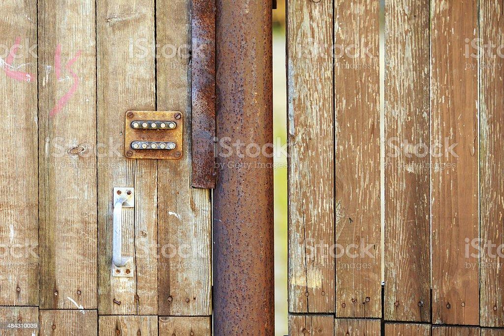 Old door with code lock royalty-free stock photo