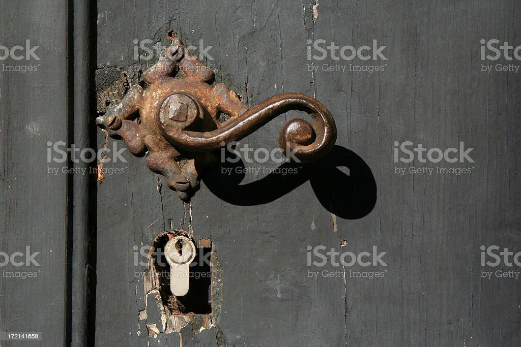 Old door-handle royalty-free stock photo