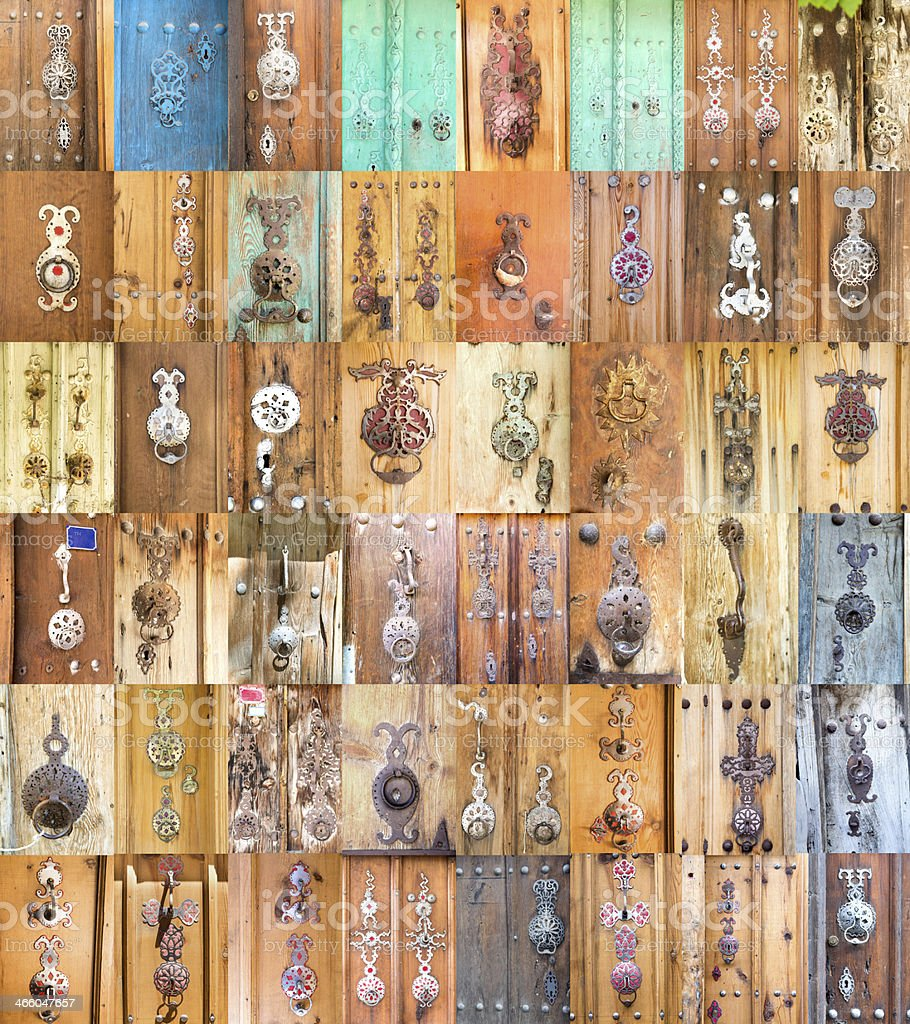 old doorknob stock photo