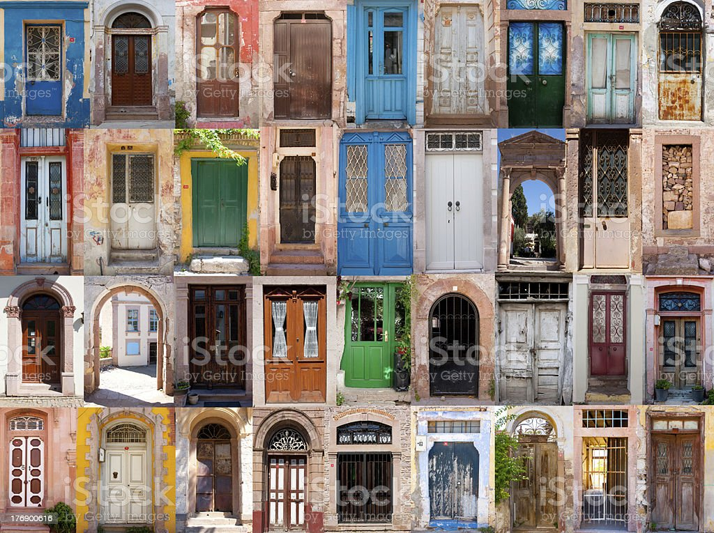 Old doors stock photo