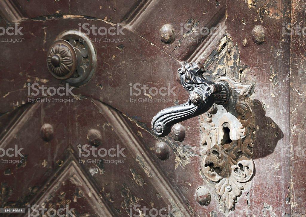 Old doors stock photo