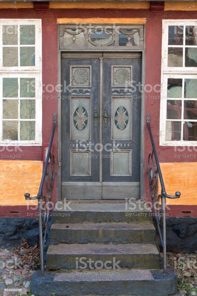 Old Double Door stock photo